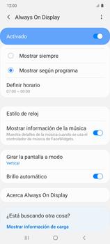 Cómo activar Always on Display - Samsung Galaxy S10 Lite - Passo 14