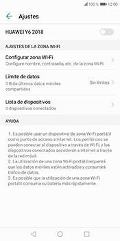 Configura el hotspot móvil - Huawei Y6 2018 - Passo 6