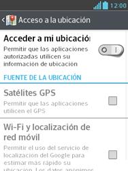 Uso de la navegación GPS - LG Optimus L3 II - Passo 5