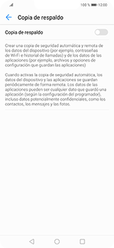 Realiza una copia de seguridad con tu cuenta - Huawei Mate 20 Lite - Passo 6