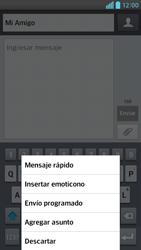 Envía fotos, videos y audio por mensaje de texto - LG Optimus G Pro Lite - Passo 8