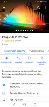 Uso de la navegación GPS - Huawei Mate 20 Pro - Passo 10
