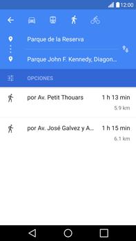 Uso de la navegación GPS - LG V10 - Passo 19