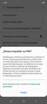 Habilitar seguridad de huella digital - Samsung Galaxy A51 - Passo 17