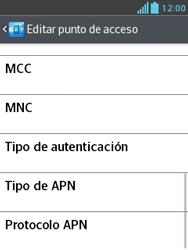 Configura el Internet - LG Optimus L3 II - Passo 13