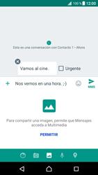 Envía fotos, videos y audio por mensaje de texto - Sony Xperia XZ Premium - Passo 12