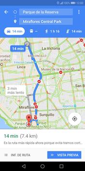 Uso de la navegación GPS - Huawei Y7 (2018) - Passo 14