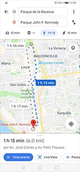 Uso de la navegación GPS - Huawei P30 Pro - Passo 16