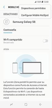 Configura el hotspot móvil - Samsung Galaxy S8 - Passo 9