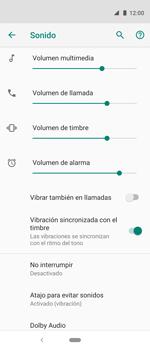 Cómo activar el modo de vibración o silencio - Motorola One Vision (Single SIM) - Passo 4