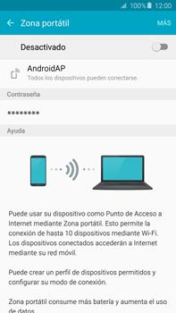 Configura el hotspot móvil - Samsung Galaxy Note 5 - N920 - Passo 6