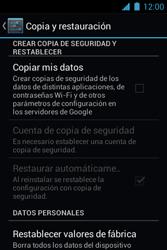 Restaura la configuración de fábrica - Motorola RAZR D1 XT914 - Passo 5