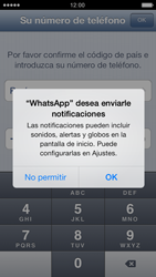 Configuración de Whatsapp - Apple iPhone 5c - Passo 5