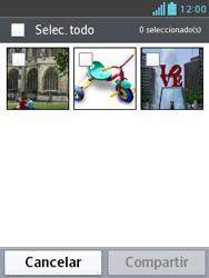 Transferir fotos vía Bluetooth - LG Optimus L3 II - Passo 6
