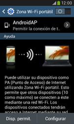Configura el hotspot móvil - Samsung Galaxy Trend Plus S7580 - Passo 10