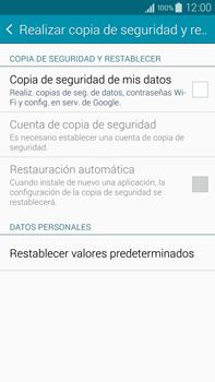 Restaura la configuración de fábrica - Samsung Galaxy Note IV - N910C - Passo 5