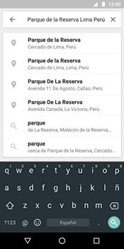 Uso de la navegación GPS - Motorola Moto G6 Plus - Passo 7