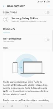 Configura el hotspot móvil - Samsung Galaxy S9 Plus - Passo 8