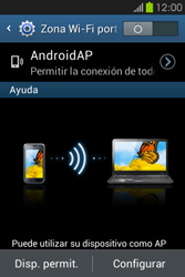 Configura el hotspot móvil - Samsung Galaxy Fame GT - S6810 - Passo 10