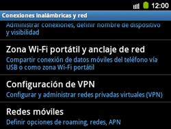 Configura el hotspot móvil - Samsung Galaxy Y Pro GT - B5510 - Passo 5