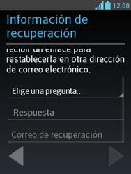 Crea una cuenta - LG Optimus L3 II - Passo 12