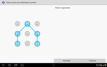 Desbloqueo del equipo por medio del patrón - Samsung Galaxy Note 10-1 - N8000 - Passo 9