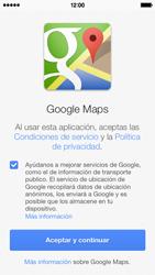 Uso de la navegación GPS - Apple iPhone 5c - Passo 4