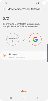 Sincronizar contactos con una cuenta Gmail - Samsung Galaxy S10e - Passo 10