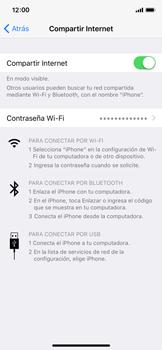 Configurar para compartir el uso de internet - Apple iPhone X - Passo 15