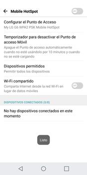 Configurar para compartir el uso de internet - LG G6 - Passo 8