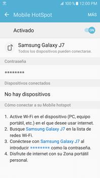 Configurar para compartir el uso de internet - Samsung Galaxy J7 2016 (J710) - Passo 10
