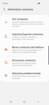 Sincronizar contactos con una cuenta Gmail - Samsung Galaxy S10e - Passo 8