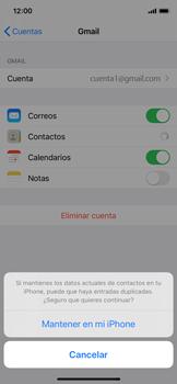 Sincronizar contactos con una cuenta Gmail - Apple iPhone X - Passo 9