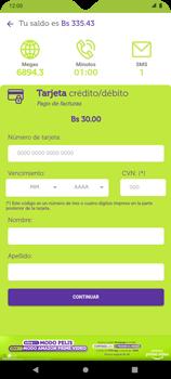 Pago de facturas con tarjeta de crédito/débito - Android VIVA APP - Passo 11