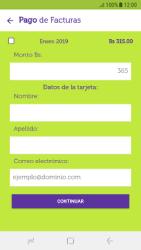 Pago de facturas con tarjeta de crédito/débito - Android VIVA APP - Passo 7