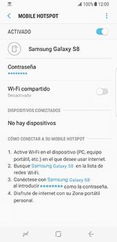 Configurar para compartir el uso de internet - Samsung Galaxy S8 (G950U) - Passo 14
