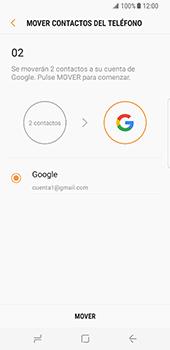 Sincronizar contactos con una cuenta Gmail - Samsung Galaxy S8 (G950U) - Passo 9