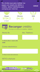 Recarga con tarjeta de crédito/débito - iOS VIVA APP MÓVIL - Passo 5