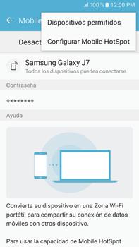 Configurar para compartir el uso de internet - Samsung Galaxy J7 2016 (J710) - Passo 6