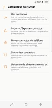 Sincronizar contactos con una cuenta Gmail - Samsung Galaxy S8 (G950U) - Passo 7