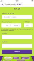 Recarga con tarjeta de crédito/débito - iOS VIVA APP MÓVIL - Passo 10