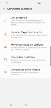 Sincronizar contactos con una cuenta Gmail - Samsung Galaxy S10+ - Passo 6