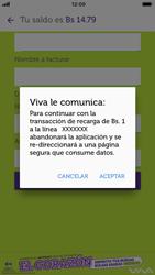 Recarga con tarjeta de crédito/débito - iOS VIVA APP - Passo 8