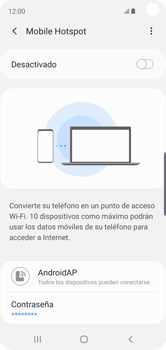 Configurar para compartir el uso de internet - Samsung Galaxy S10e - Passo 8