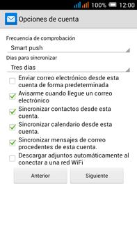 Configurar el correo electrónico - Alcatel Pop C9 - Passo 12