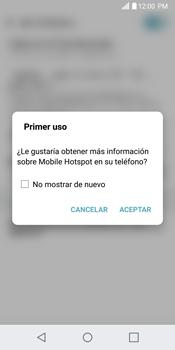 Configurar para compartir el uso de internet - LG G6 - Passo 9