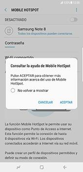 Configurar para compartir el uso de internet - Samsung Galaxy Note 8 - Passo 13