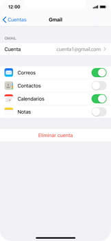 Sincronizar contactos con una cuenta Gmail - Apple iPhone X - Passo 7