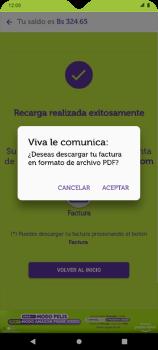 Recarga con tarjeta de crédito/débito - Android VIVA APP - Passo 13