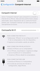 Configurar para compartir el uso de internet - Apple iPhone 7 (iOS10) - Passo 11